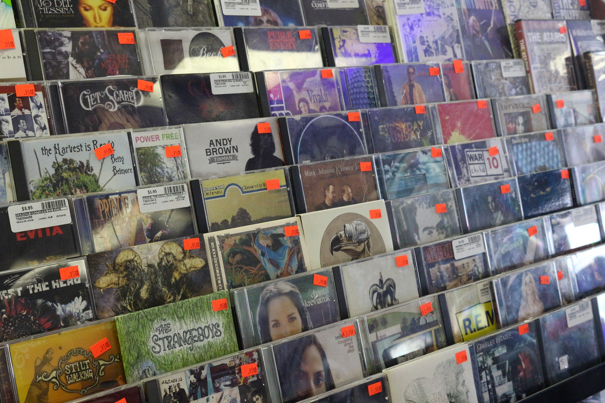 Evergreen Traders marked down CDs!