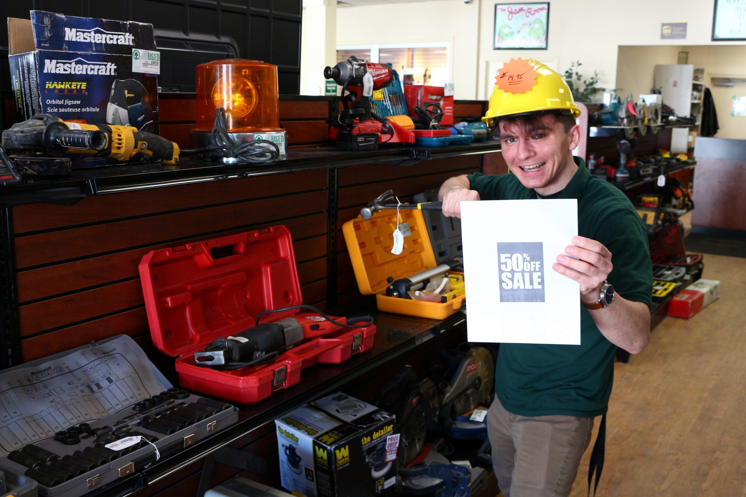 Evergreen Traders marked down almost all of their tools!