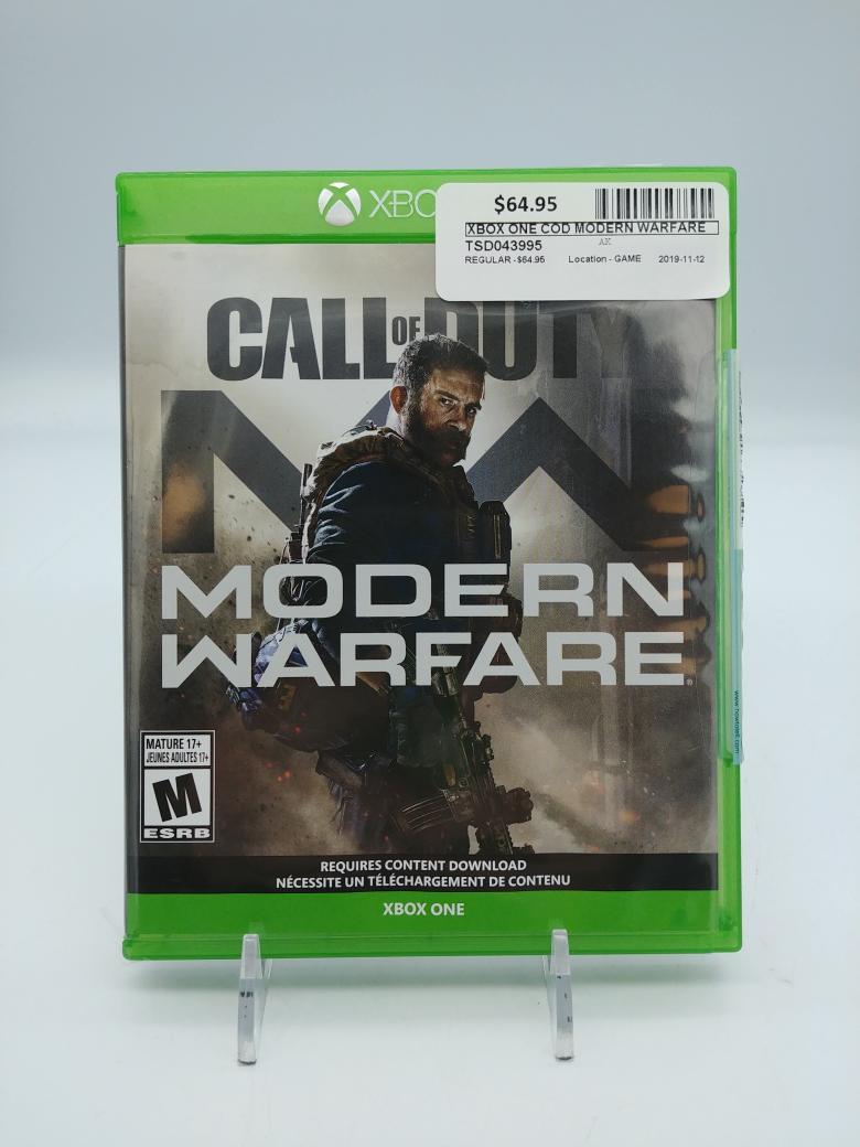 12 Nov 2019 – Modern Warfare for XBOX One – $64