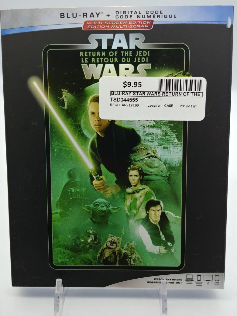 21 Nov 2019 – Star Wars Return of the Jedi Bluray – $9.95