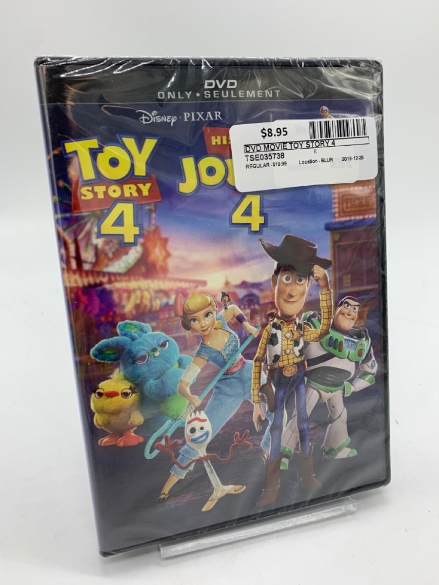 29 Dec 2019 – Toy Story 4 DVD movie – $8.95