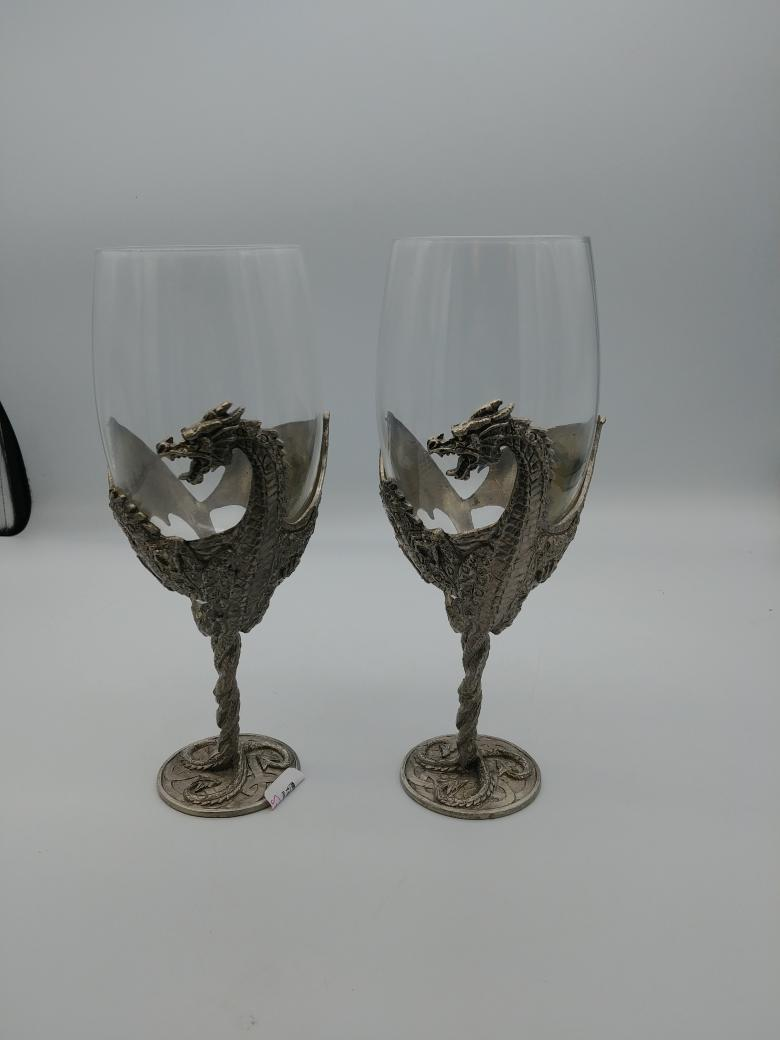 9 Jan 2020 – Pewter Wine Glasses – $19