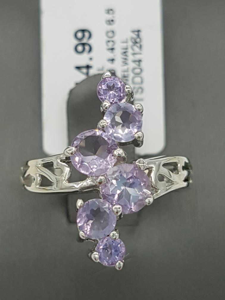 23 Feb 2020 – Purple Stone Silver Ring – $15