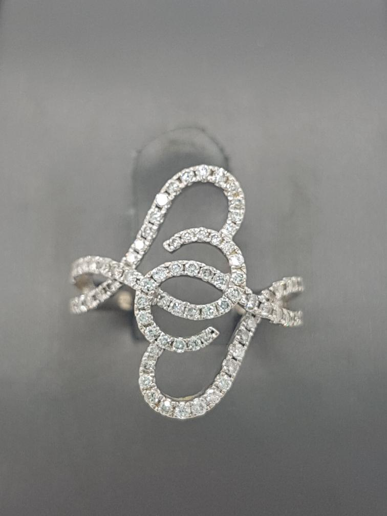 8 Feb 2020 – 14K White Gold and Diamond Ring – $239