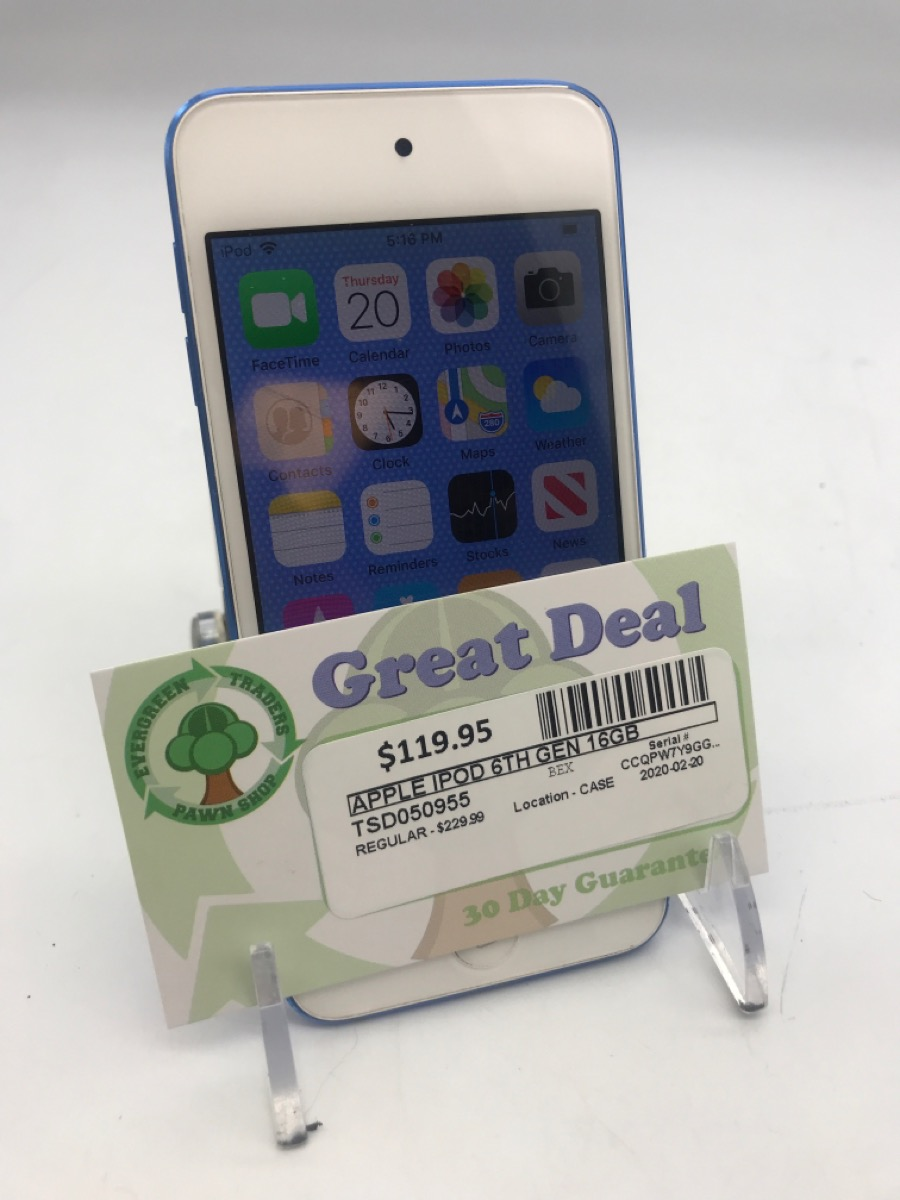1 Mar 2020 – Ipod Touch 6th gen 16GB – $119