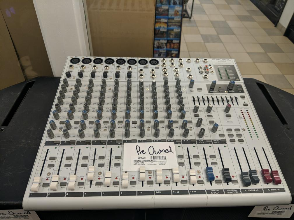 5 Mar 2020 – Phonic MU1822X Pro Audio Mixer – $99