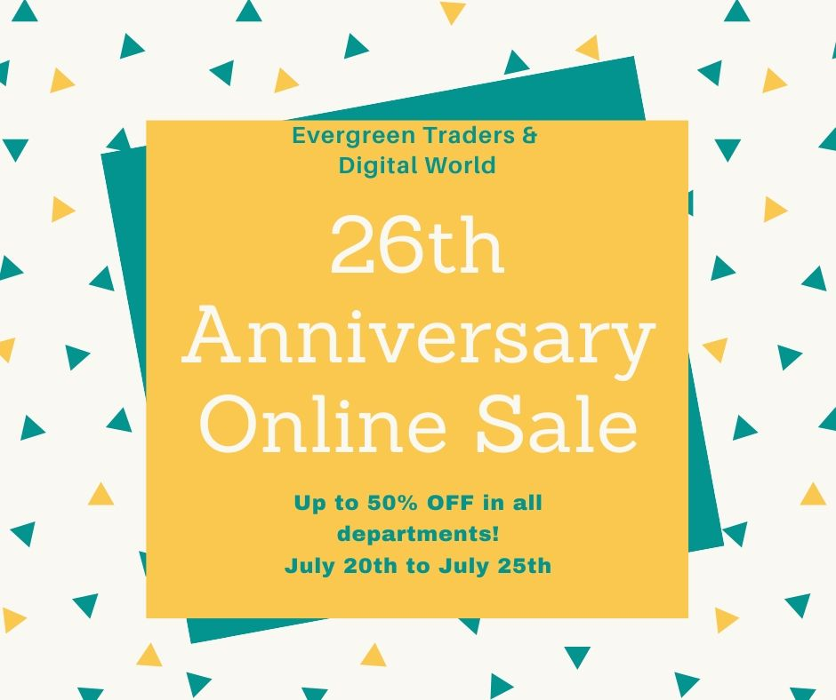 26th Anniversary Sale – Online ONLY – July 20-25