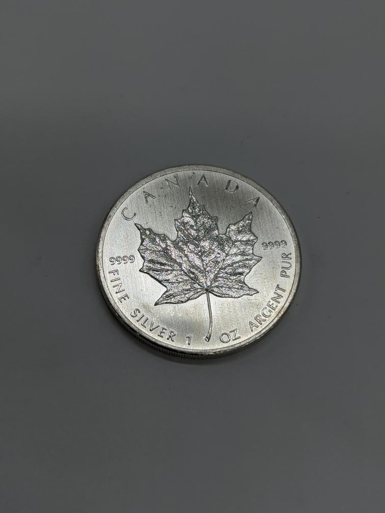 18 Aug 2020 – .999 Fine Silver Coin 1oz Maple Leaf – $42.75