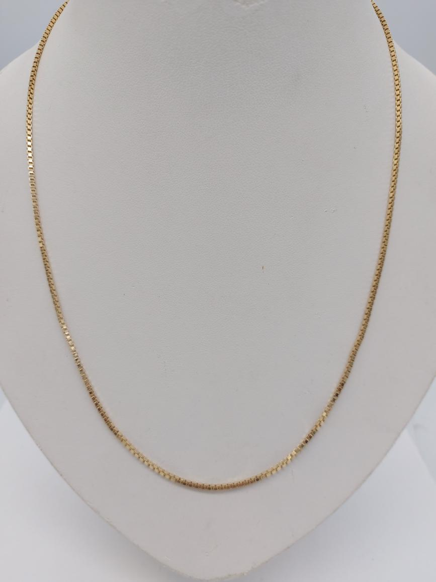 22 Aug 2020 – 20 inch 10K Solid Gold Box Chain – $569