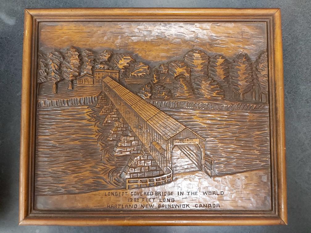24 Aug 2020 – Hartland Bridge Carved Wood Art – $39