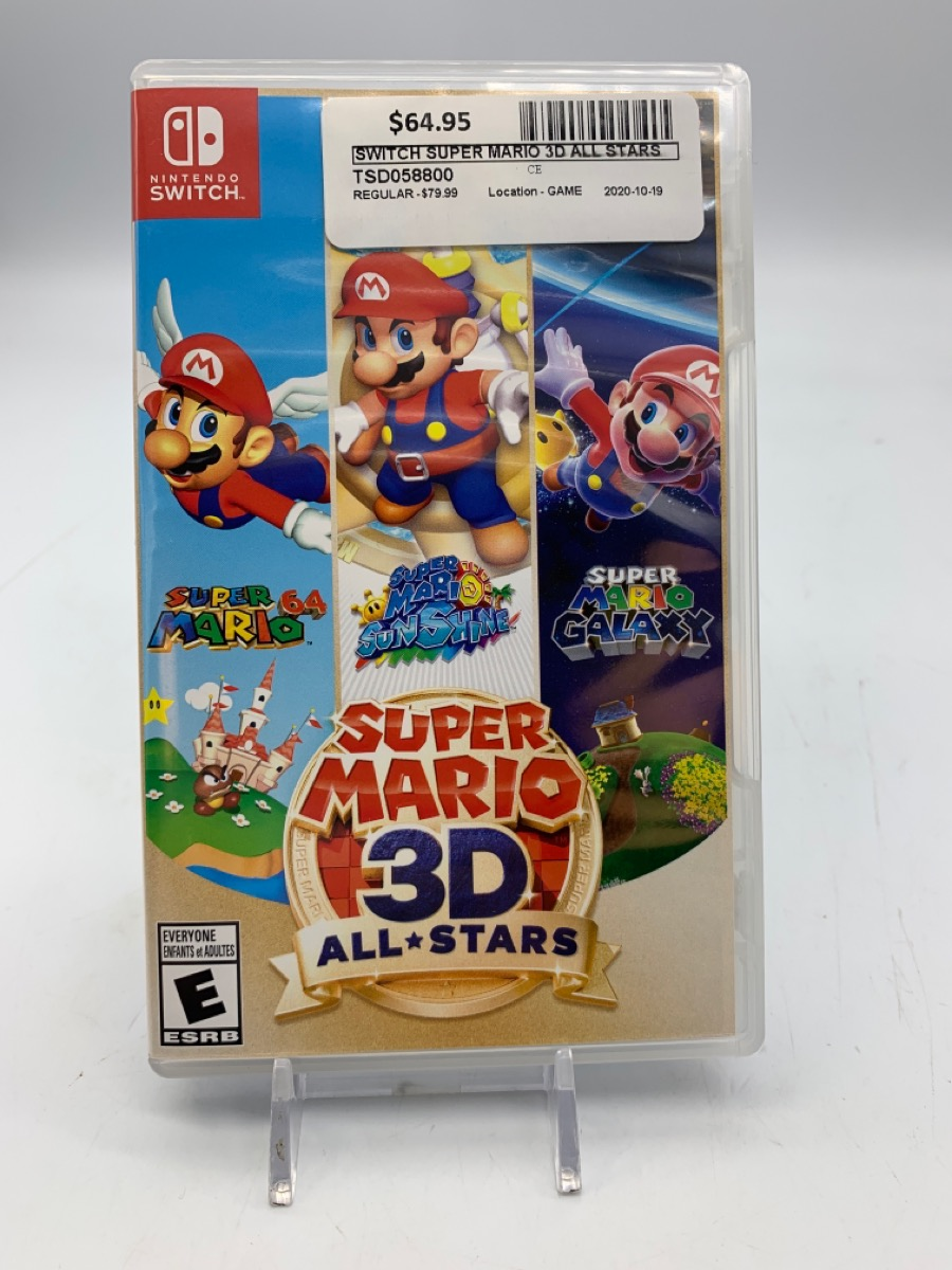 20 Oct 2020 – Nintendo Switch Super Mario All Stars 3D – $64.95