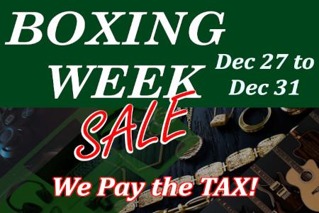 Boxing Week Sale – Dec 27 to Dec 31