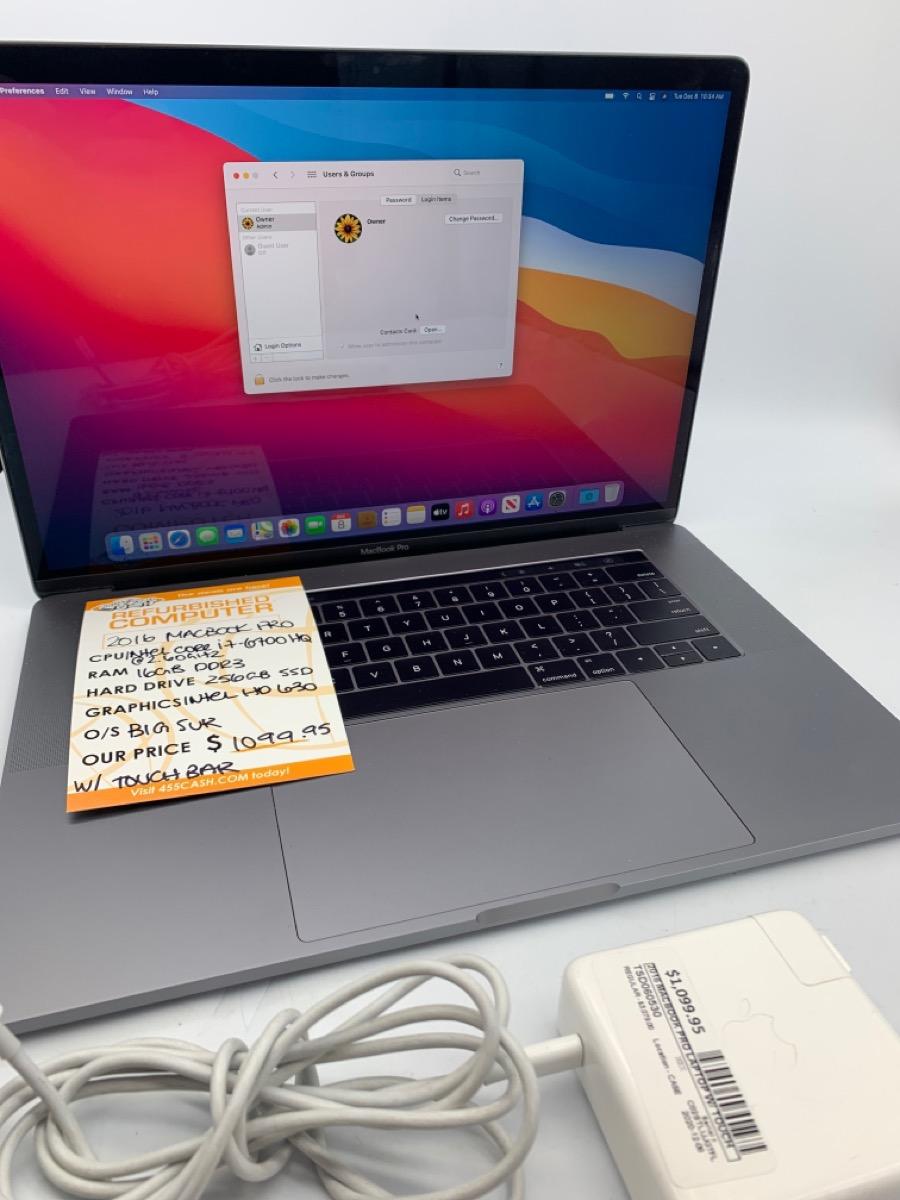 Mon Dec 14 – Apple Macbook Pro 2016 – $1099