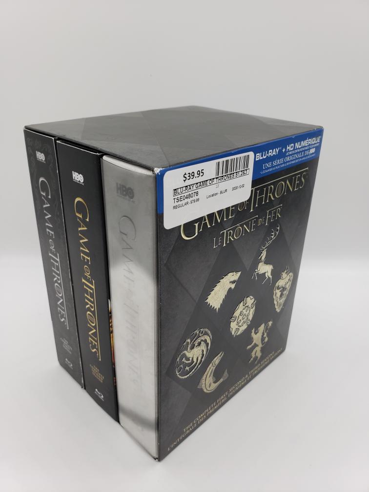 Thurs Dec 3 – Game of Thrones Seasons 1-3 Bluray – $39