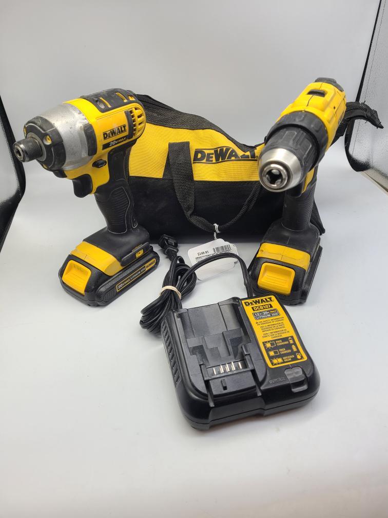 Tues Jan 5 – Dewalt Cordless Drill Combo Set w/2 Batteries – $149