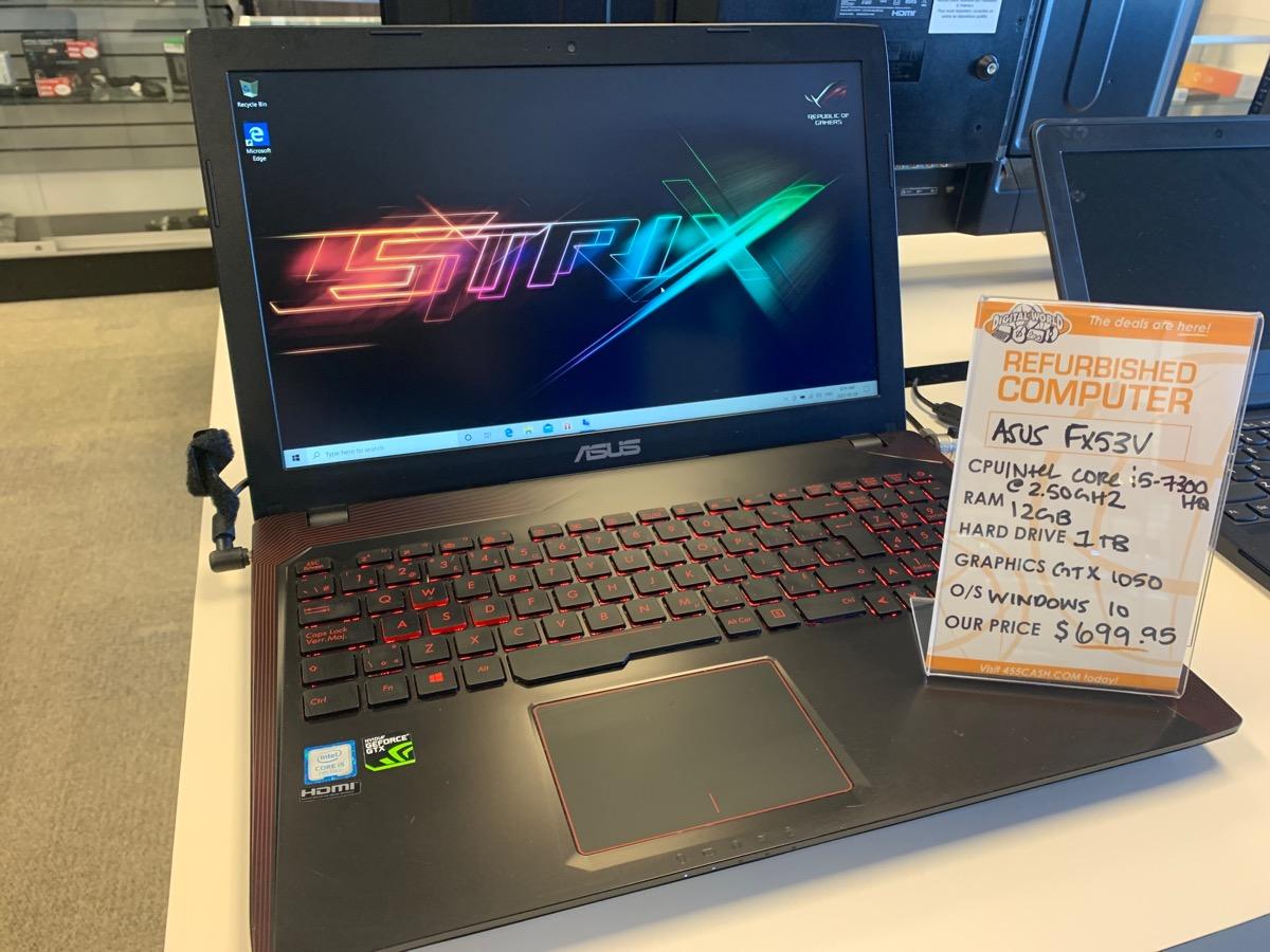 Wed Feb 10 – Asus FX53V Gaming Laptop – $699