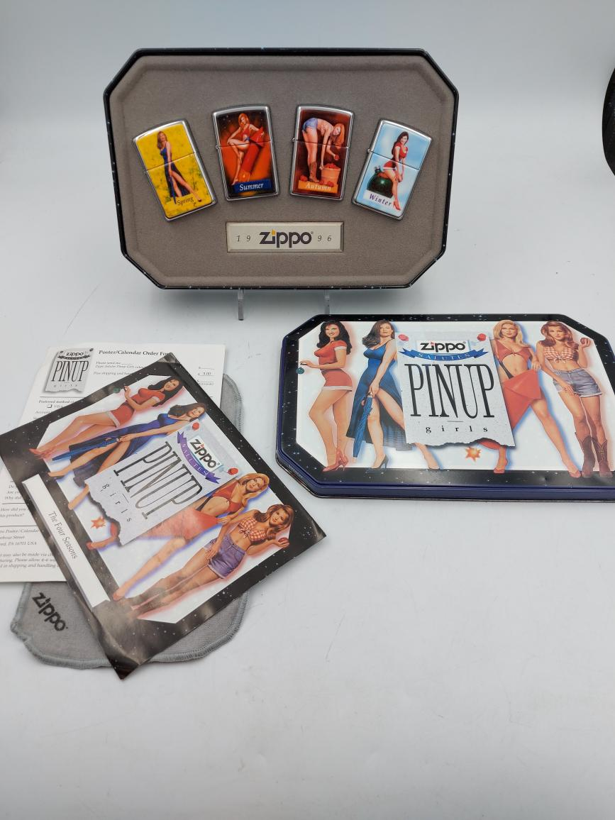 Wed Mar 24 – Collectible ZIPPO Lighter set – $275