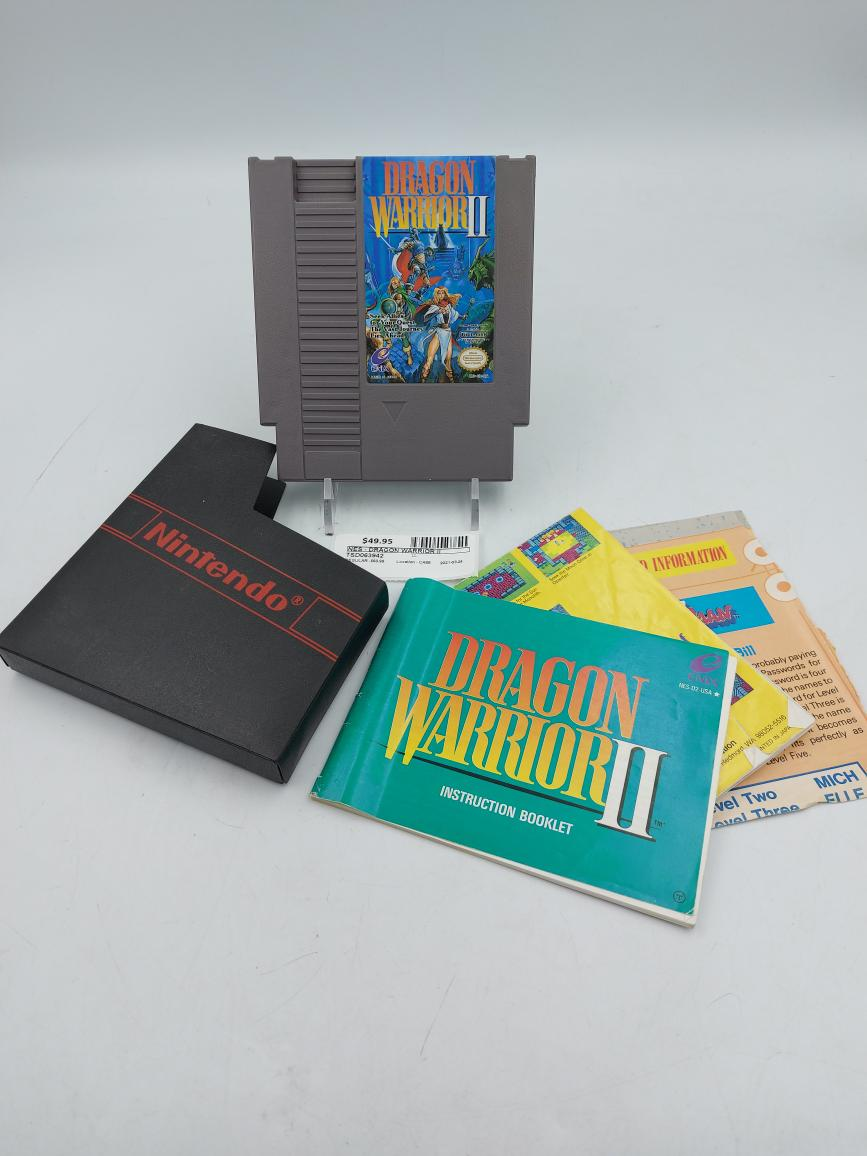 Thurs Mar 25 – Original Nintendo Dragon Warrior II w/book – $49