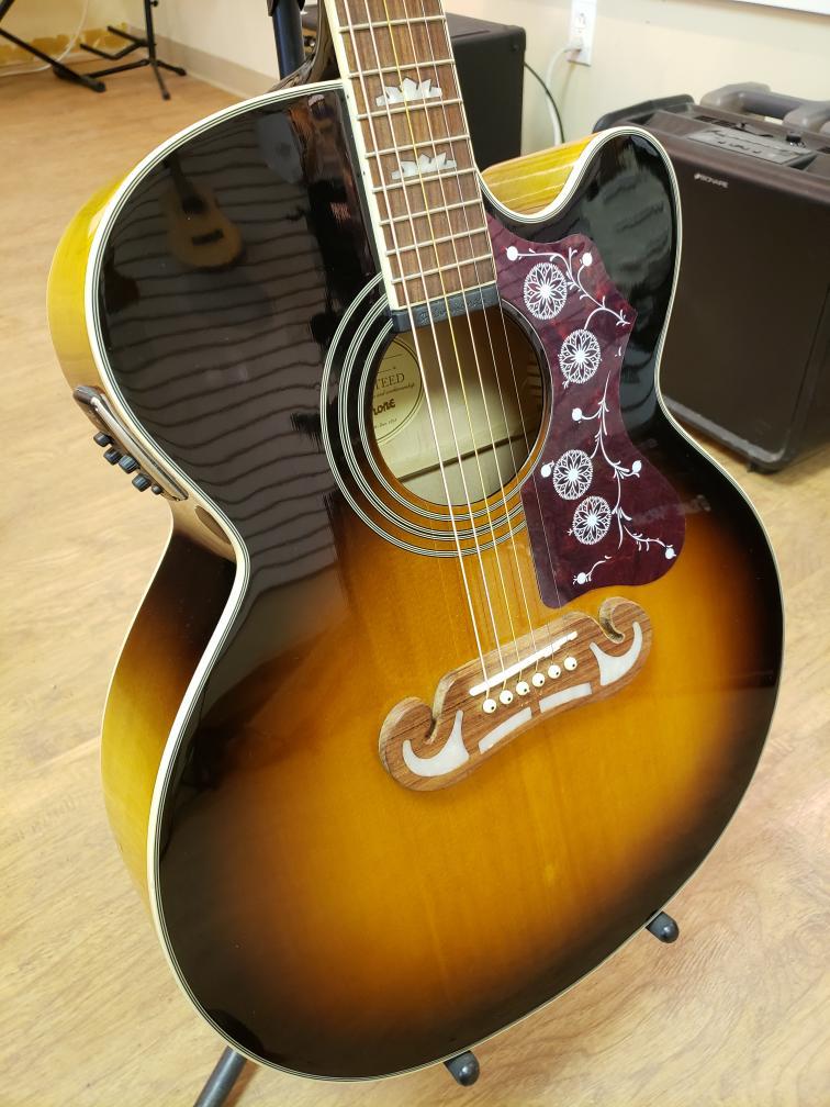 Tues Mar 30 – Epiphone J-200 EC Jumbo Acoustic Guitar – $399