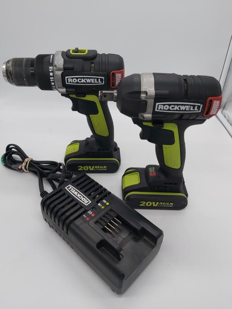 Sat Apr 17 – Rockwell 20v Li-Ion Cordless Drill/Impact Driver Combo – $159