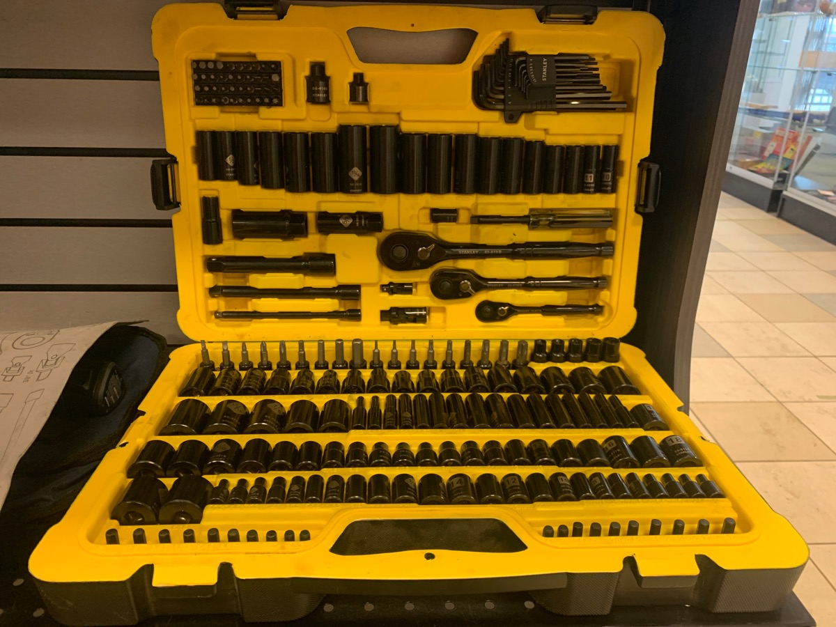 Mon Apr 26 – Stanley 229 piece Socket Set – $95