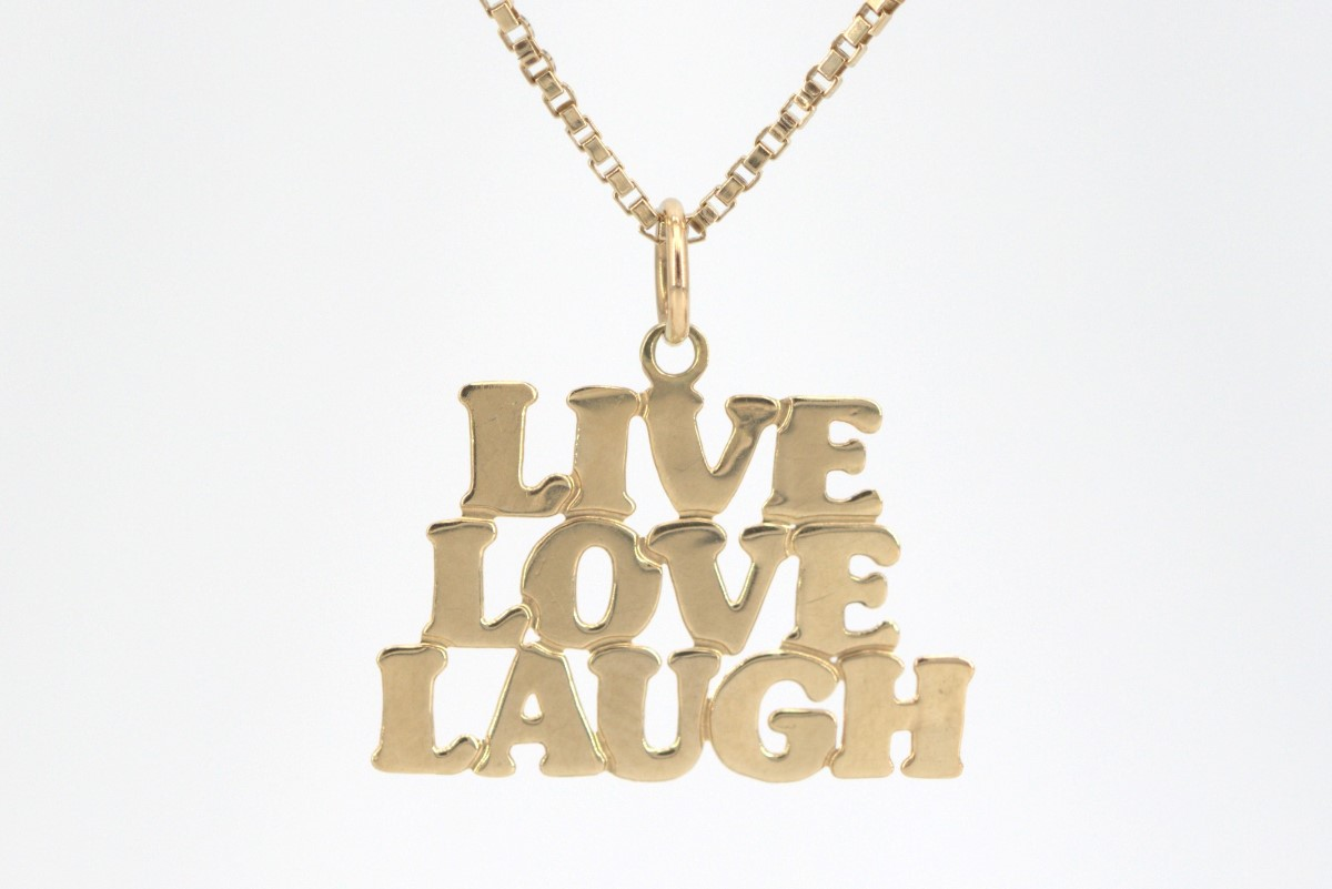 Mon May 3 – 10K Solid Gold 22 inch Chain and Pendant – $179