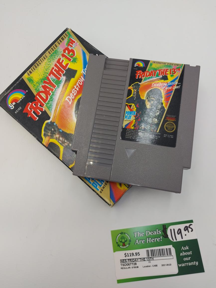Thurs June 24 – NES Friday the 13th Rare Vintage Game – $119