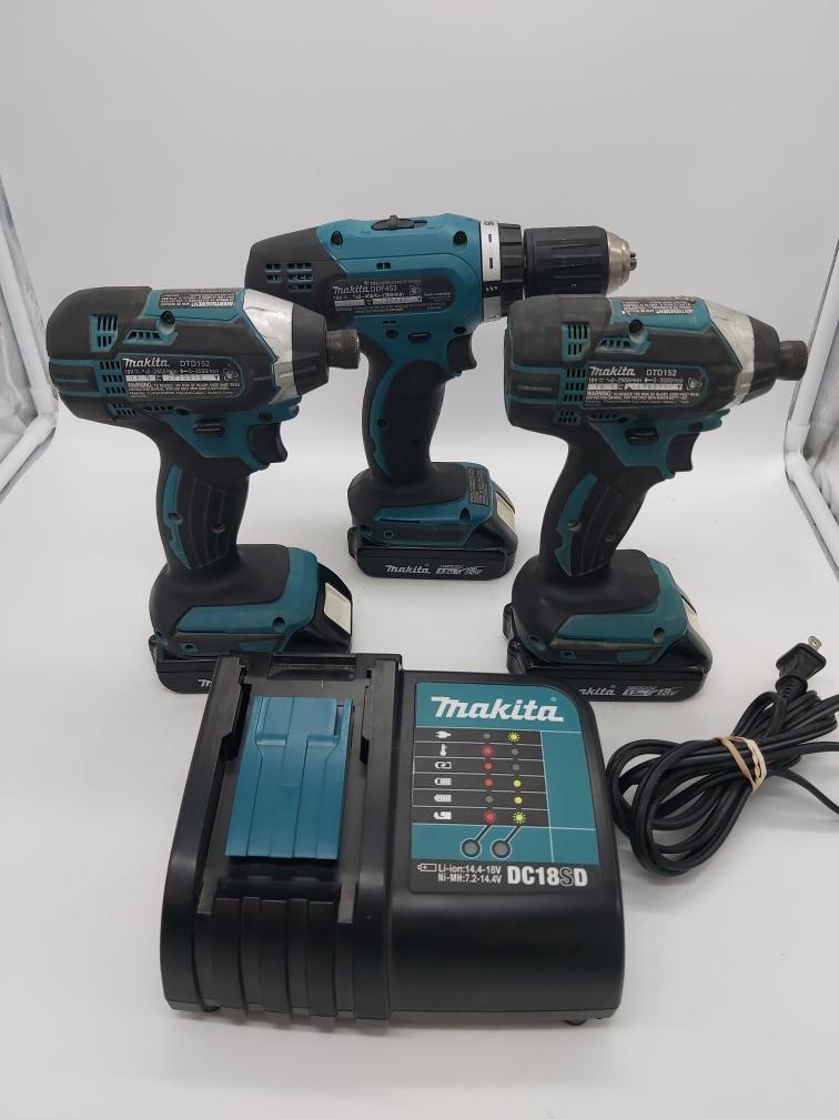 Mon June 28 – Makita Li-Ion Cordless Drill/Impact set w/3 batteries and charger – $169
