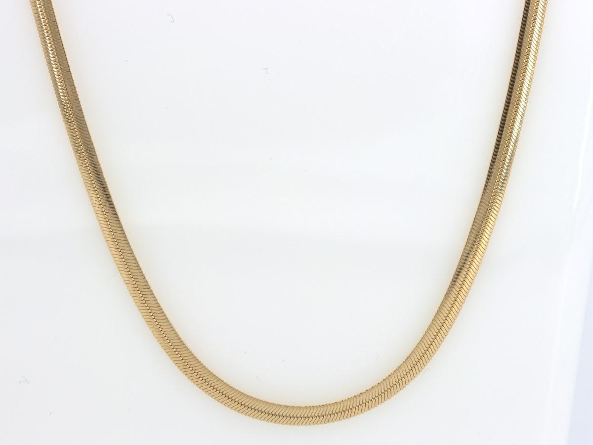 Sat June 5 – 10k 18inch Solid Gold Herringbone Chain – $389