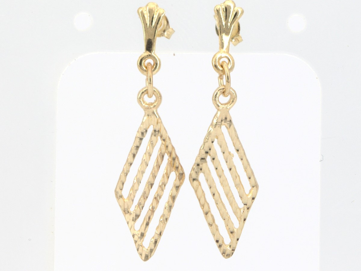 Wed July 21 – 10K Solid Gold Fashion Earrings – $79