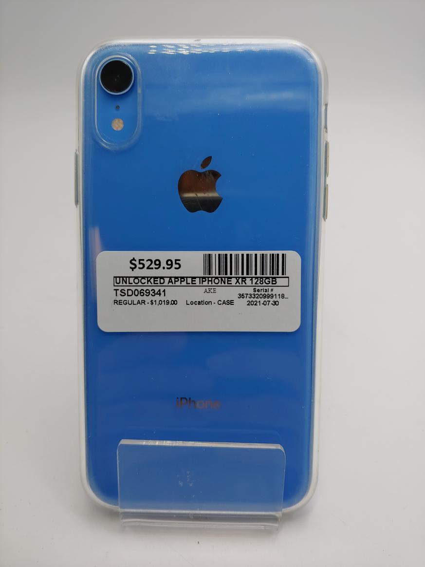 Sat July 31 – Apple IPhone XR 128GB Unlocked – $529