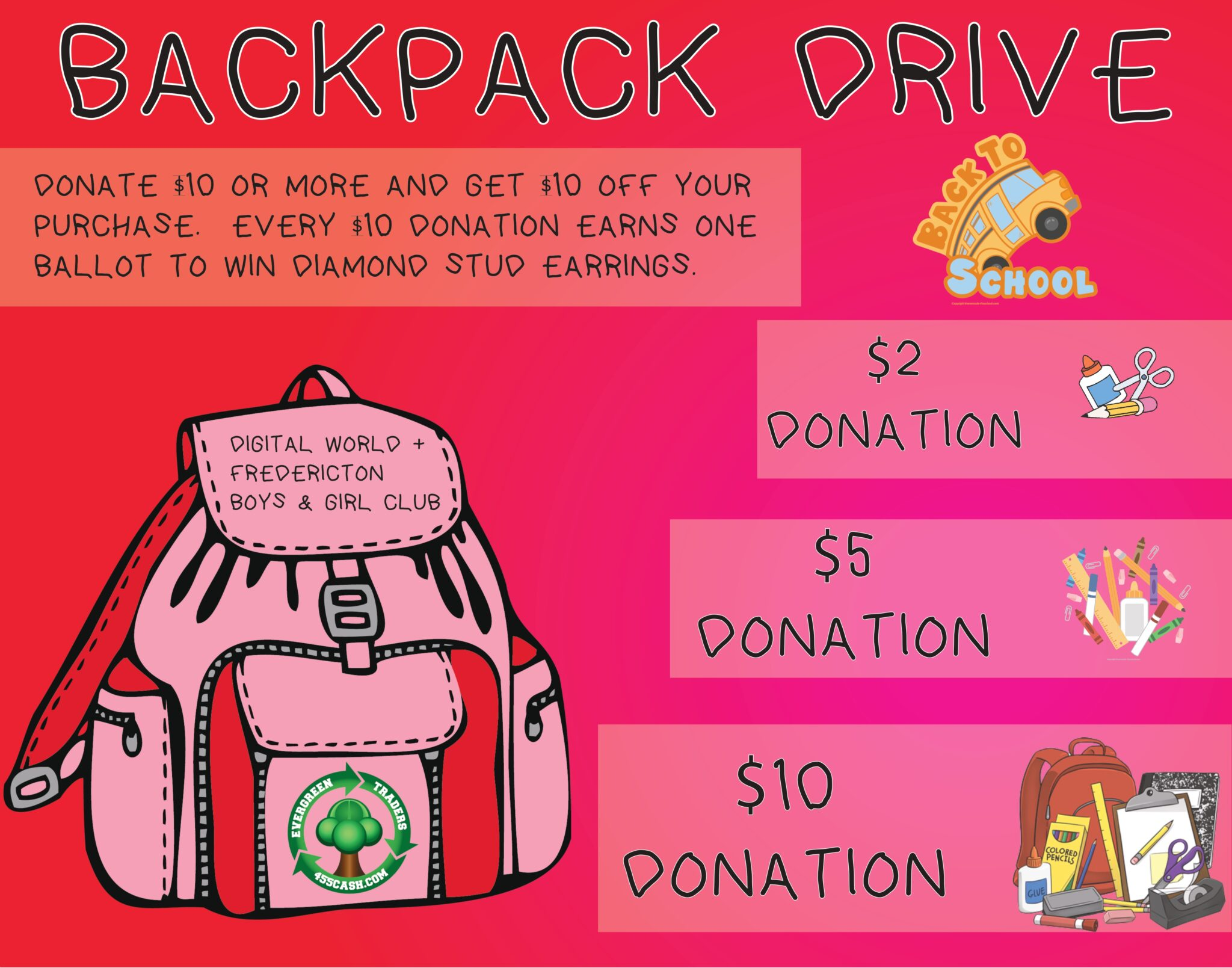 Our Backpack Drive Is Still On!