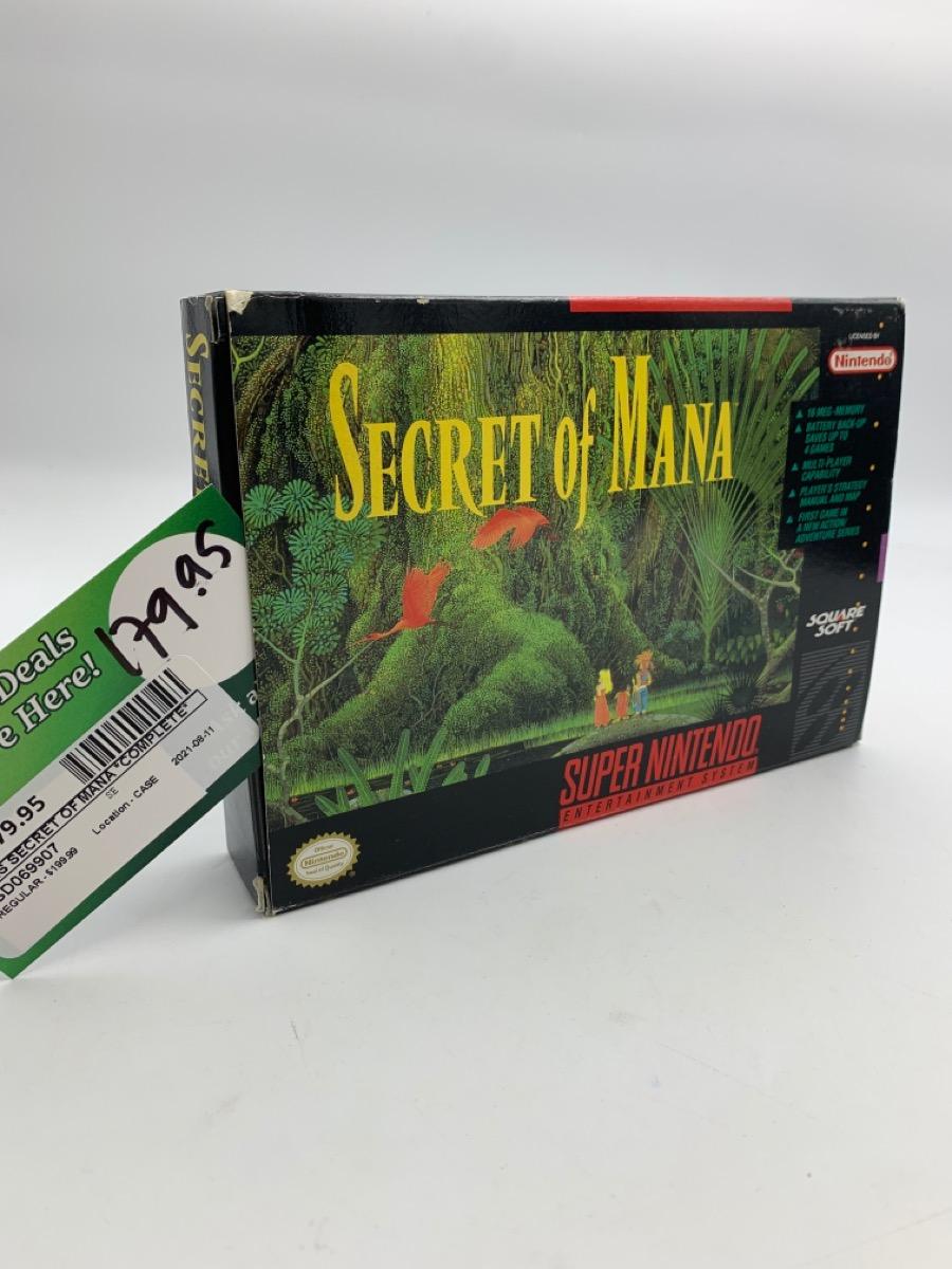 Thurs Aug 12 – Super Nintendo Secret of Mana w/box – $179