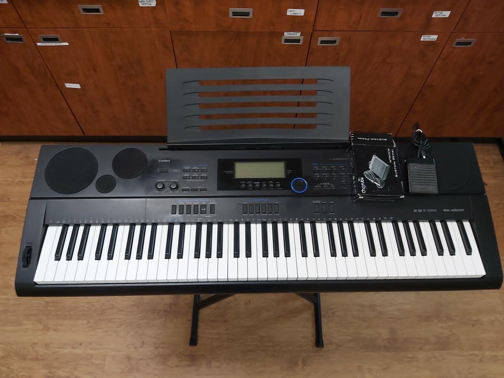 Mon Aug 16 – Casio WK-6500 Electronic Piano/Keyboard – $299