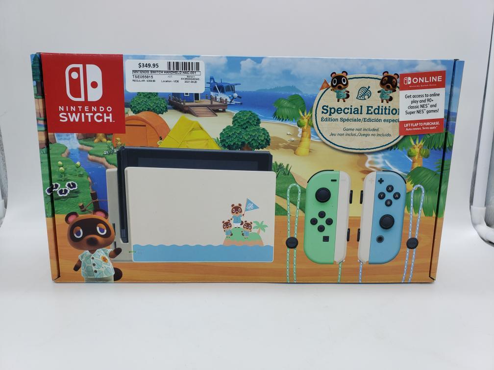 Fri Aug 20 – Nintendo Switch Console Animal Crossing Edition – $349