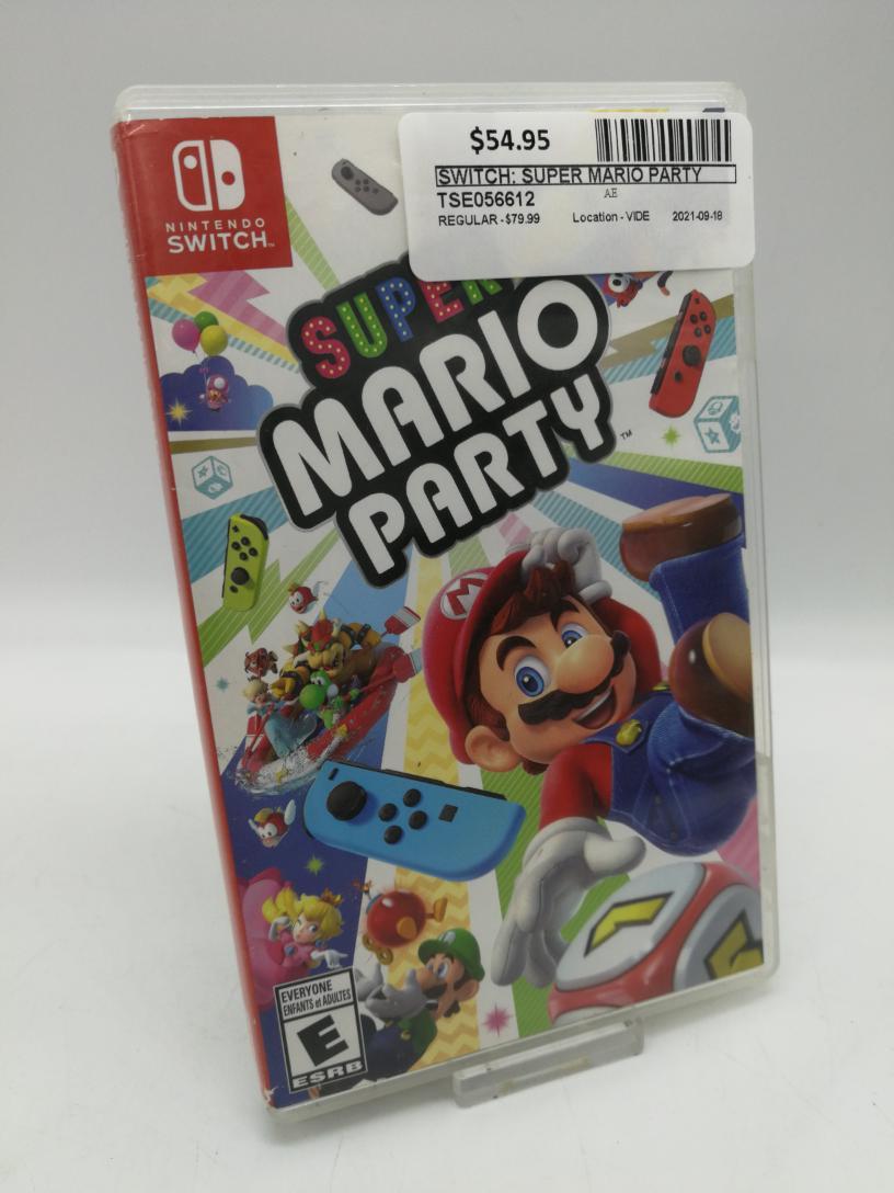 Mon Sept 20 – Nintendo Switch Mario Party – $54.95