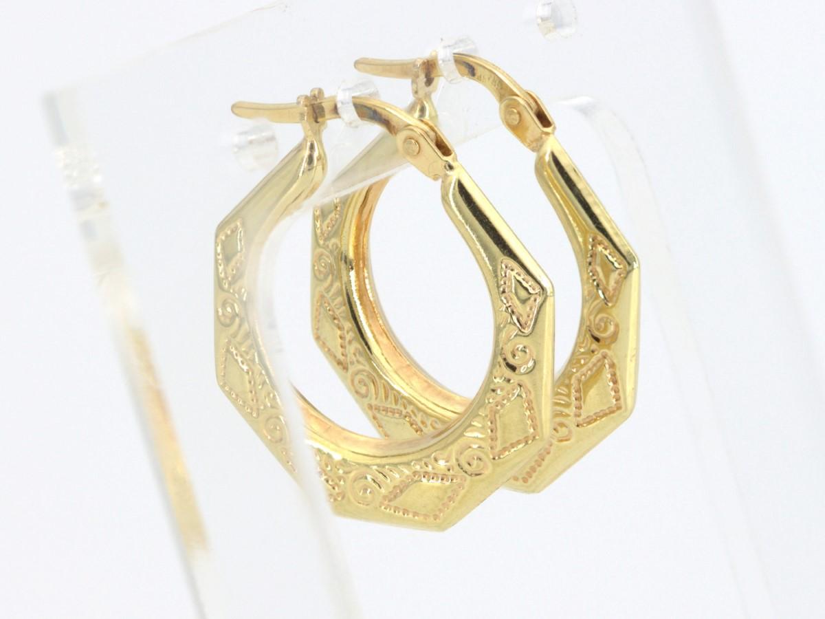 Sat Sept 25 – 18K Gold Hoop Earrings – $260