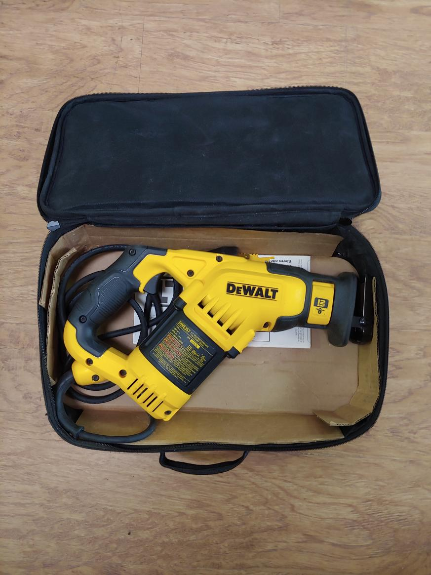 Sat Oct 2- Dewalt Corded Reciprocating Saw – $79