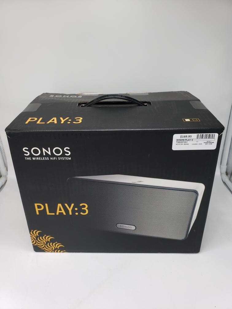 Wed Oct 6 – Sonos Play:3 Wireless Speaker System – $169
